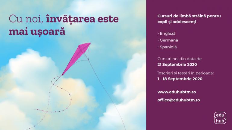 Noi cursuri dedicate copiilor, din 21 Septembrie
