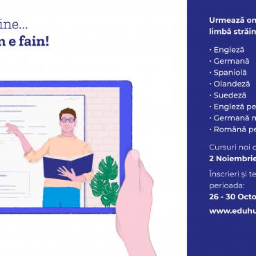 Noi cursuri online, dedicate adulților, din 2 Noiembrie 2020